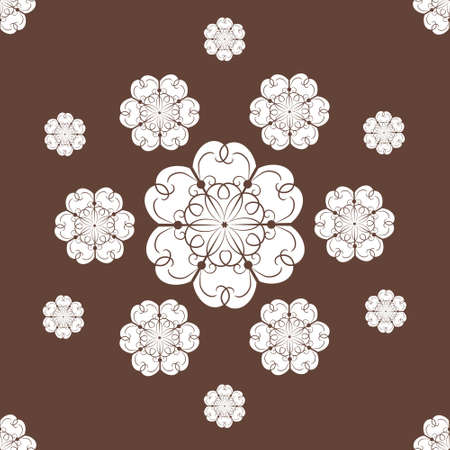 Seamless snowflakes background with vintage snowflakes Stock Vector - 16243966