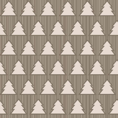Seamless pattern with christmas trees on striped background Stock Vector - 16243885