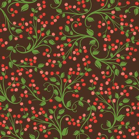 Jednolite kwiatowy wzór z dzikich jagód