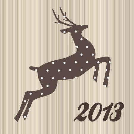 polka dotted: Navidad renos polka puntos sobre fondo de madera