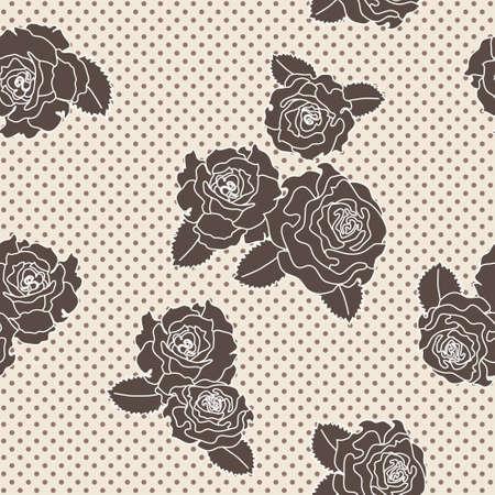 polka dotted: Vector seamless pattern rosa sobre fondo punteado polca