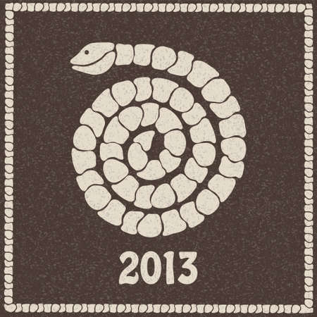 Vector illustration of 2013 new year snake of stones Stock Vector - 16483834