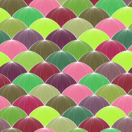 Abstract vector seamless geometric pattern with colorful spheres Vector
