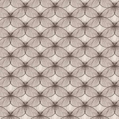 不規則な抽象的なグリッド パターン。シームレスな蝶組織