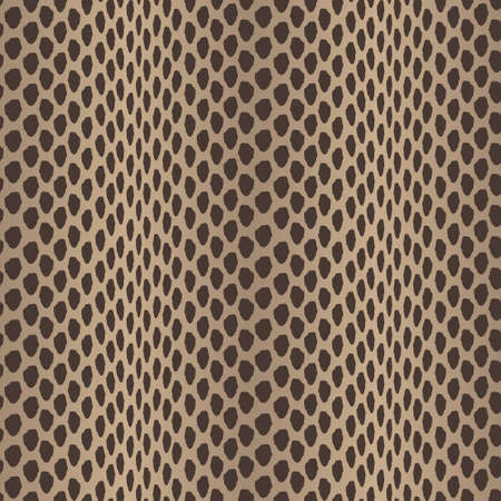Seamless vector structured snake skin in black and brown colors Vector