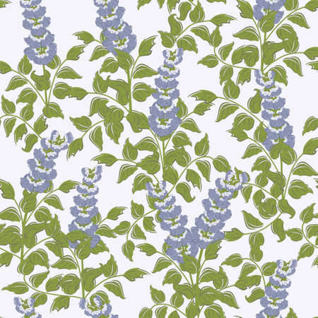 Spring floral vector seamless pattern with bluebell flowers Stock Vector - 17931588
