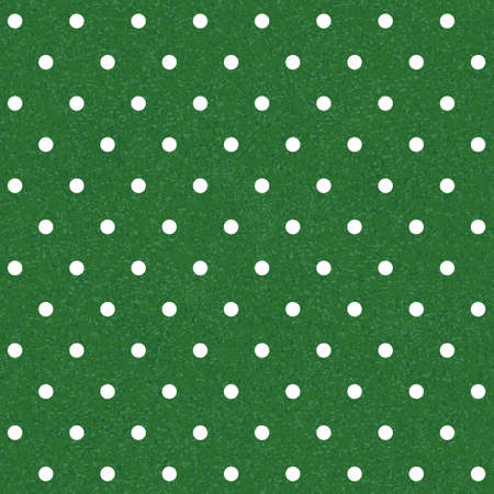 grungy dots: Vector seamless green polka-dotted background with white dots