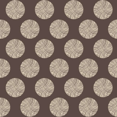 Seamless circles stump pattern, vector brown illustration Vector