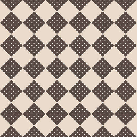 Seamless vector retro squares background in brown colors Vector