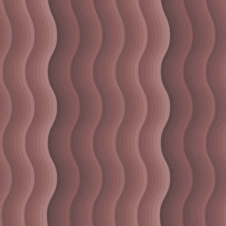 Vector retro seamless wave pattern in brown colors Vector