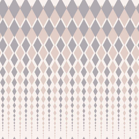 Vintage seamless geometric pattern with traditional rhomb ornament Vector