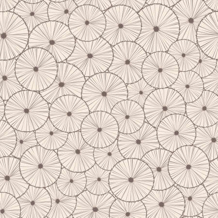 retro circles: Decorative abstract seamless circle pattern. Endless texture with linear round elements