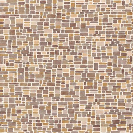 Seamless vector mosaic pattern