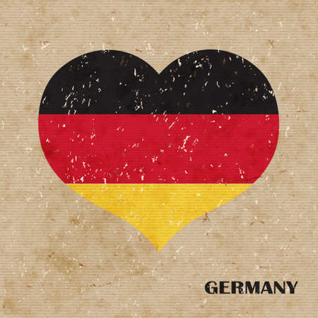 National flag of Germany. vector retro illustration. Vector