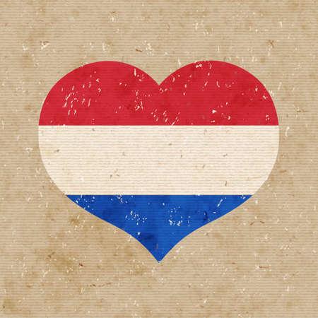 National flag of Netherlands. vector retro illustration. Vector