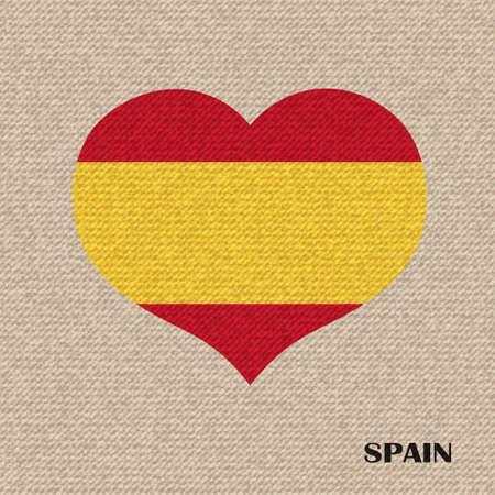 spain flag: National flag of Spain. vector retro illustration.