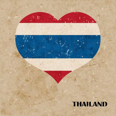 National flag of Thailand. vector retro illustration. Vector