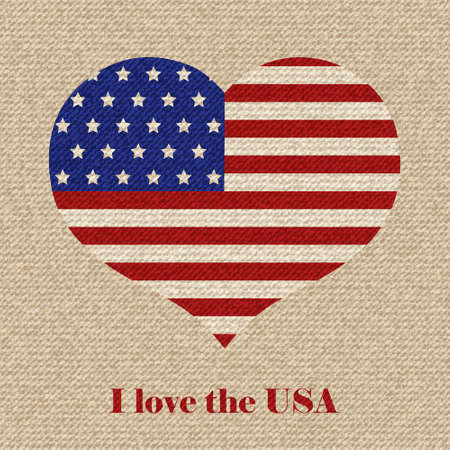 American flag vector retro illustration. Vector