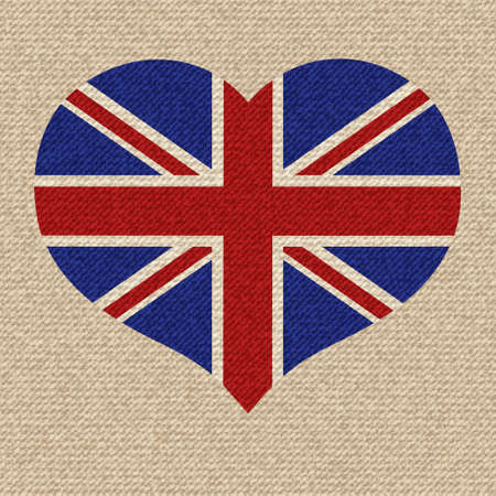 British flag vector retro illustration. Vector