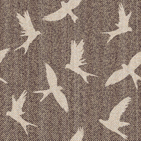 Elegance vector seamless pattern with jeans brids. Vector