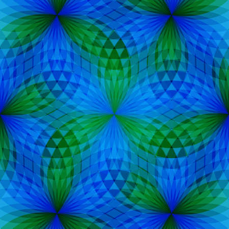 Background with bright  geometric flower. Flow  spectral light. Vector