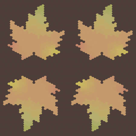 bstract: ?bstract  seamless vector autumn leaf