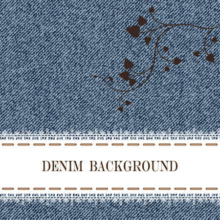 seam: Elegance seamless pattern with denim jeans background.