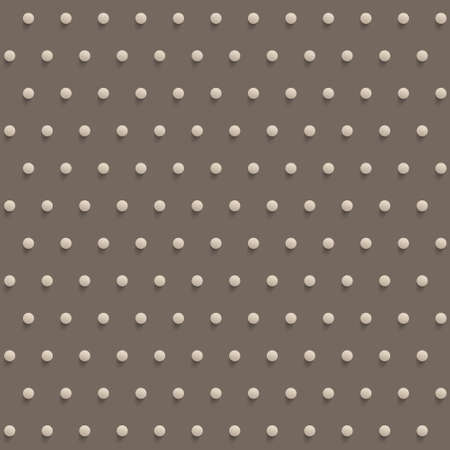 convex: seamless red polka dotted background with  convex dots Illustration
