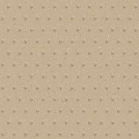 embossing: Textured recycled cardboard with  embossing. seamless pattern. Illustration