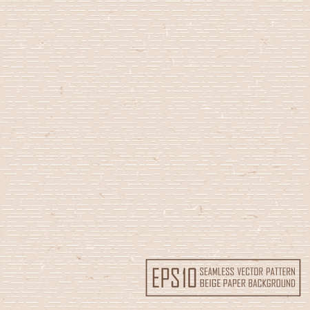 embossed paper: Textured beige paper with natural fiber parts. Seamless pattern.