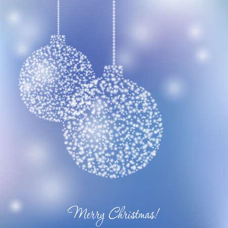 christmasball: Elegant christmas card with Christmas-ball and  flame