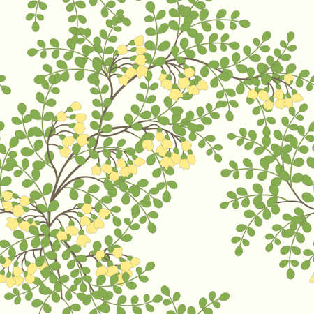 Elegant seamless pattern with abstract leaves and flowers Vector