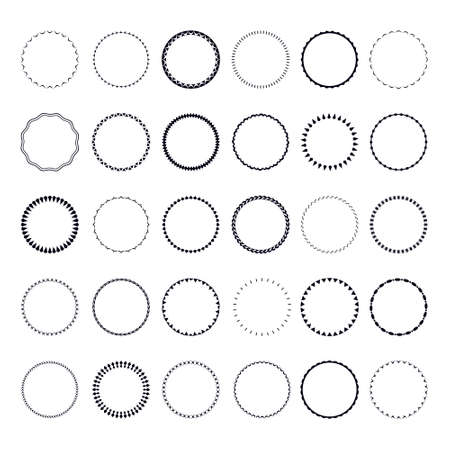 frameworks: Set of round and circular decorative patterns for design frameworks and banners