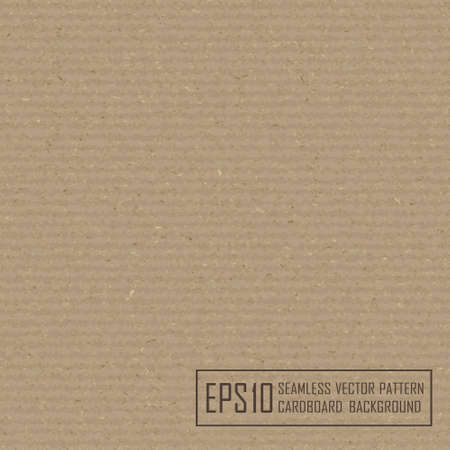 Textured recycled cardboard with natural fiber parts Vector