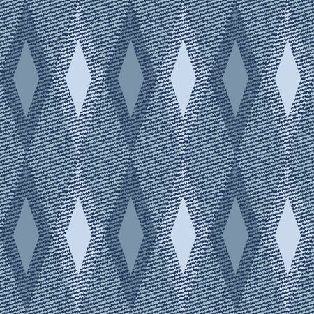sewed: Elegance seamless pattern with denim jeans background