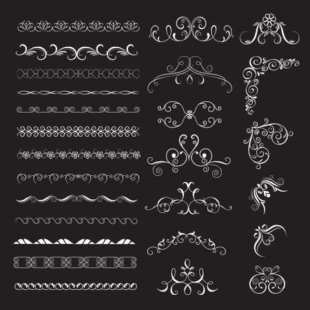 victorian scroll: Set vintage decorative frames, borders for design frameworks and banners. Can use for birthday card, wedding invitations.