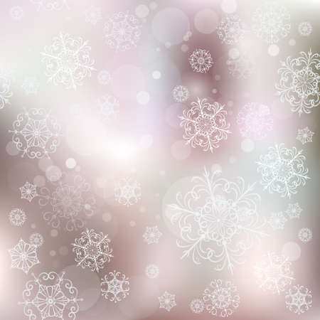 glare: Christmas elegant vector  pattern with snow and glare