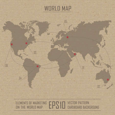 stimulus: Map of the world and modern elements of graphical information