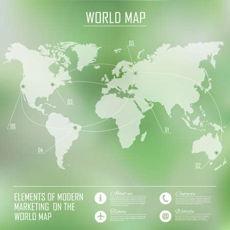 the stimulus: Map of the world and modern elements of graphical information