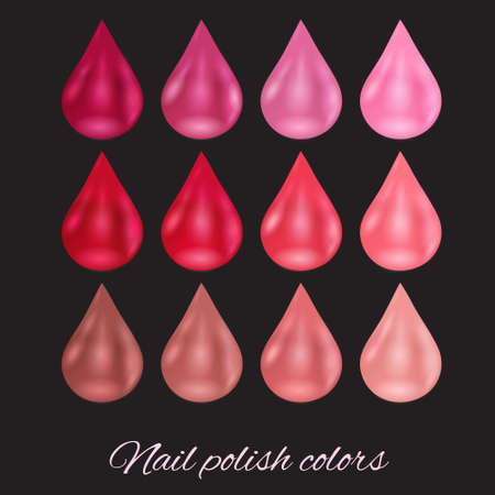 color palette: Beautiful color palette of pearl nail polish.
