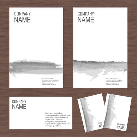 ci: Vector corporate identity, watercolor design. Geometric banner design template. Brand, visualization, corporate identity business set