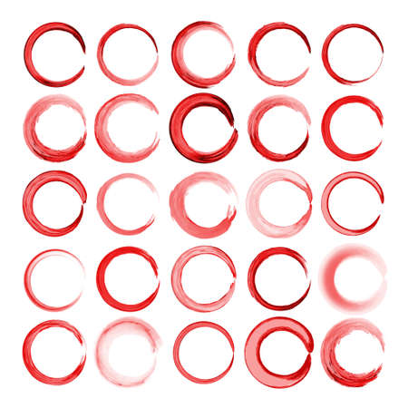frameworks: Set of round and circular decorative watercolor patterns for design frameworks and banners Illustration