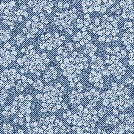 eleganz: Elegance nahtlose Muster mit Jeans Hintergrund
