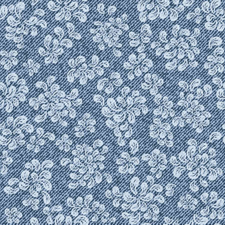 cotton  jeans: Elegance seamless pattern with denim jeans background