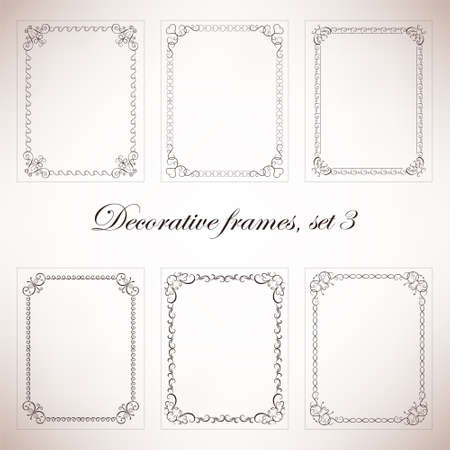 marcos decorativos: Set vintage decorative frames and borders