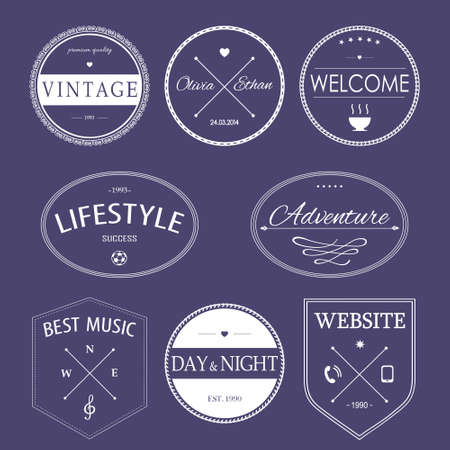 styled: Set of vintage styled design hipster icons