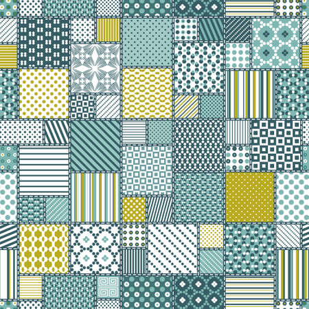 patchwork: Creative seamless patchwork pattern