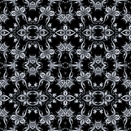 classic style: Vector seamless pattern in Victorian style. Element for design.  It can be used for wallpaper, pattern fills, web page background, surface textures, classic fabric.