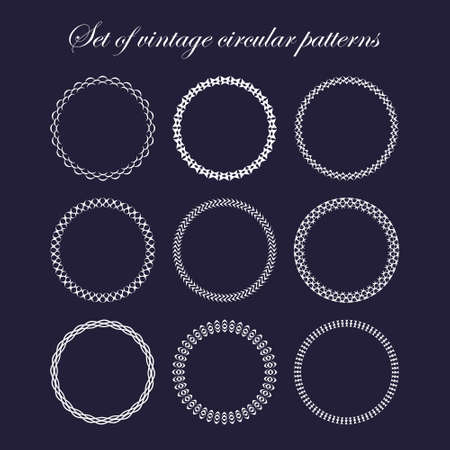 frameworks: Set of round and circular decorative patterns for design frameworks and banners. Can use for birthday card, wedding invitations.