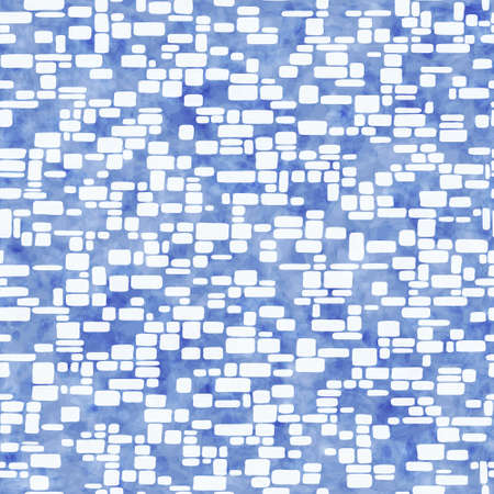 geometrical pattern: Vector abstract seamless geometrical pattern with blue watercolor texture, pattern can be used for wallpaper, pattern fills, surface textures